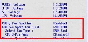 скорость кулера компьютера в bios - скриншот 1