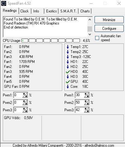 программа speedfan - использование - скриншот 3