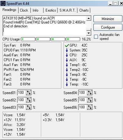программа speedfan - использование - скриншот 4