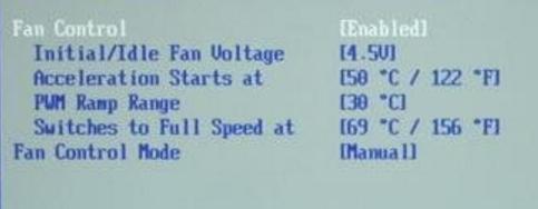 Для вентилятора скорости изменений программу