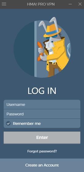 HMA! Pro VPN - обзор программы - скриншот 1 - вход