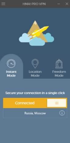 HMA! Pro VPN - обзор программы - скриншот 4 - instant mode