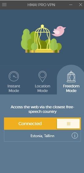 HMA! Pro VPN - обзор программы - скриншот 7 - freedom mode