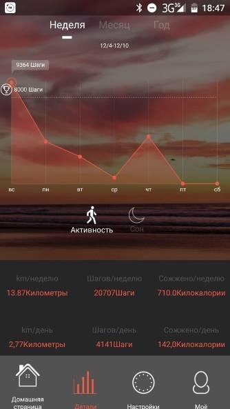 обзор ID101HR Heart Rate Monitor Smart Bracelet - использование - скриншот приложения 2