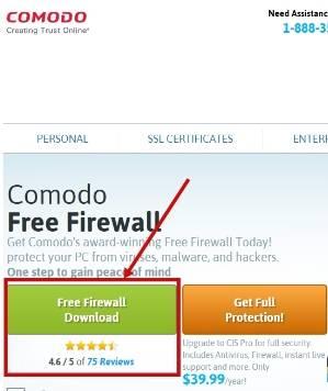 Comodo Firewall - установка - скриншот 1 - загрузка