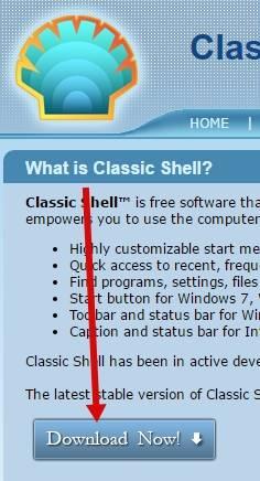 """настройки меню """"Пуск"""" в Windows 7/8 или 10 - программа Classic Shell - скриншот 6 - загрузка"""