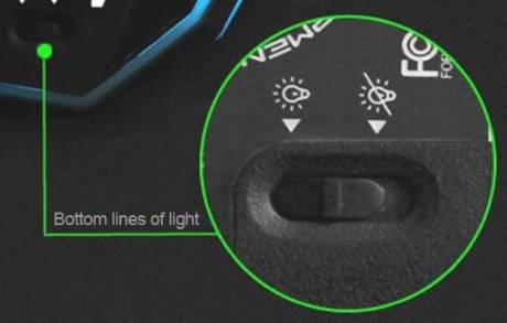 обзор Dare-U Wrangler Upgraded Version Wired Gaming Mouse - использование - фото 2 - переключатель подсветки мыши
