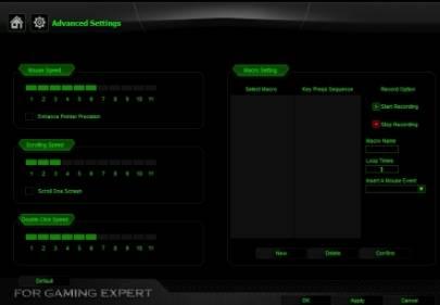 обзор LUOM G50 Programmable 10 Button Professional Mechanical Gaming Mouse - unboxing (распаковка) - использование - скриншот программы 2 - настройка dpi, сенсора, подсветки