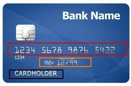 платежная система PayPal - регистрация - шаг 6 - информация на карте
