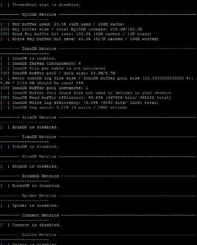 Настройка и калькуляция памяти Mysql - скриншот 1