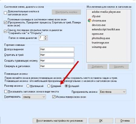 AnVir Task Manager - скриншот 17 - размер иконок программ