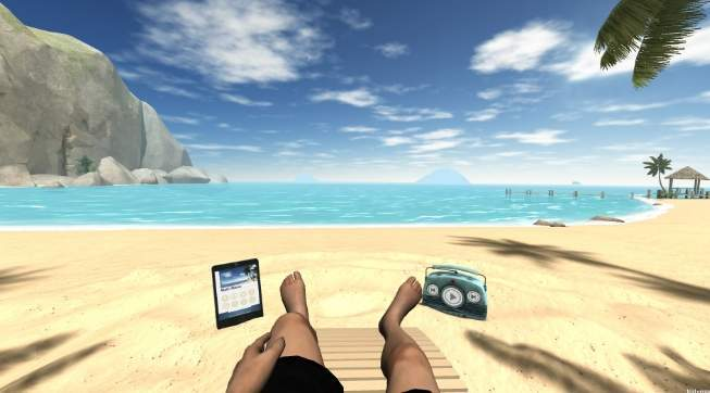 обзор Xiaomi VR Virtual Reality 3D Glasses - пляж - скриншот 5