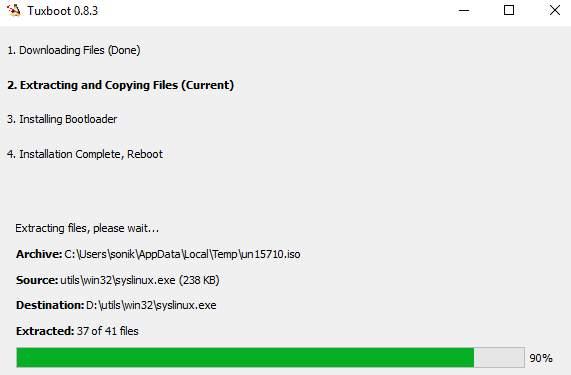 разбить диск на разделы GParted - скриншот 6