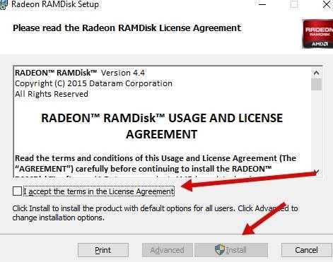 диск в оперативной памяти Windows - установка - скриншот 2