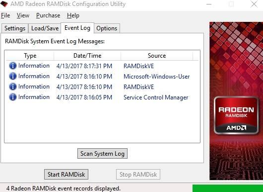 диск в оперативной памяти Windows - лог событий - скриншот 8
