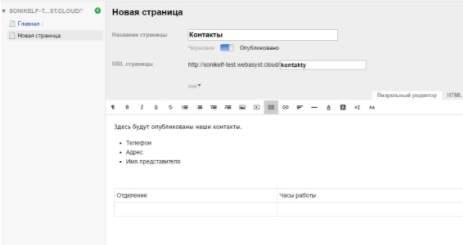 обзор webasyst - создание сайта без знания кода - конструктор - скриншот 7