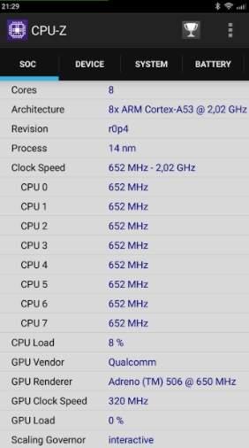 CPU-Z Redmi 4 Prime - скриншот 1