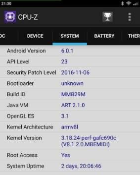 CPU-Z Redmi 4 Prime - скриншот 3