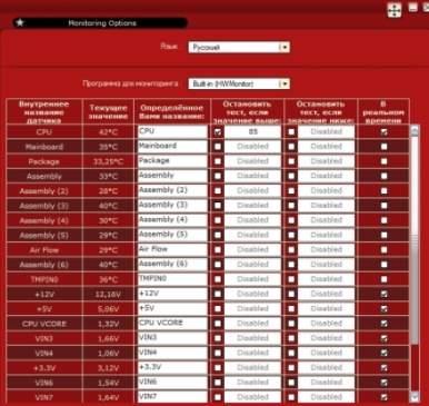 тест стабильности компьютера - программа OCCT - скриншот 4