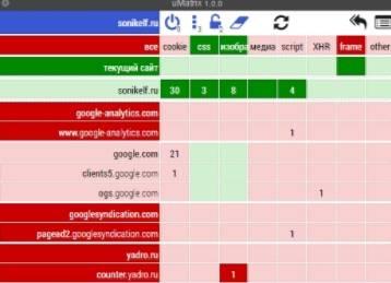 umatrix расширение обзор - настройка, использование и установка - скриншот 7