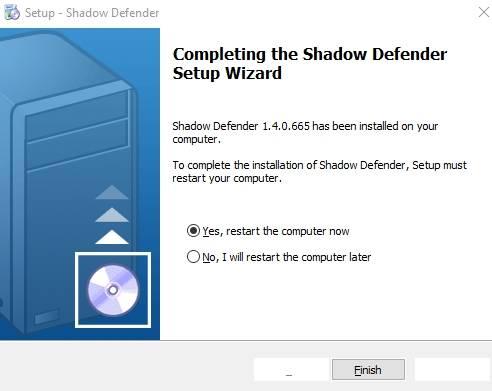 обзор Shadow Defender - защита компьютера - установка - скриншот 2