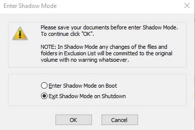 обзор Shadow Defender - защита компьютера - использование - скриншот 1