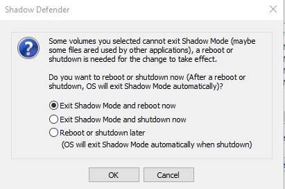 обзор Shadow Defender - защита компьютера - проверка работы - скриншот 4