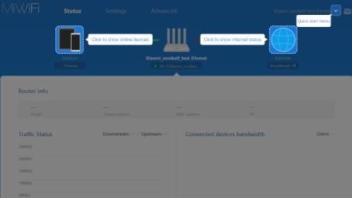 обзор Xiaomi Mi WiFi Router 3 - веб-интерфейс прошивки, английский язык - скриншот 1