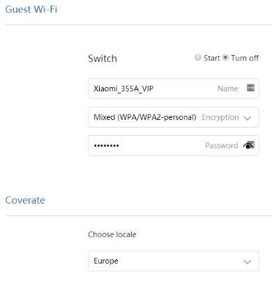 обзор Xiaomi Mi WiFi Router 3 - веб-интерфейс прошивки, английский язык - скриншот 5