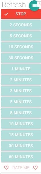 Автоматическое обновление сайта через заданный промежуток времени - скриншот плагина Super Auto Refresh