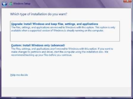 Как установить Windows 8 - скриншот 5 - установка или обновление