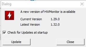 HWMonitor - температура процессора - обновление - скриншот 3