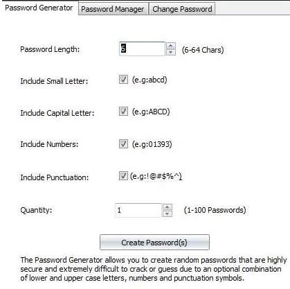 как часто менять пароли - генератор - скриншот 1