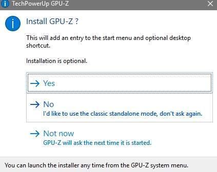 GPU Z - процесс установки - скриншот 4