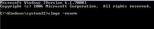 Как легально продлить Windows и сбросить счетчик - скриншот 1 - консоль