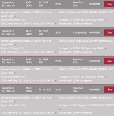 обзор GTHost - информация о выделенных серверах - скриншот 2