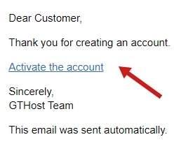 обзор GTHost - активация аккаунта - скриншот 9