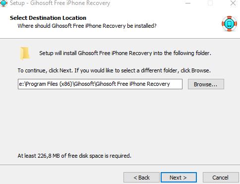 Восстановление данных с Вашего смартфона - iPhone Gihosoft Data Recovery - установка скриншот 2