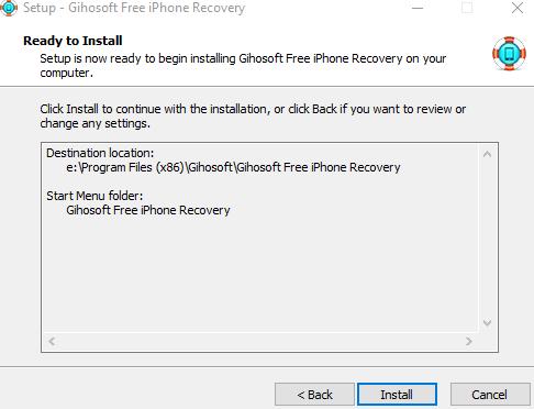 Восстановление данных с Вашего смартфона - iPhone Gihosoft Data Recovery - установка скриншот 3
