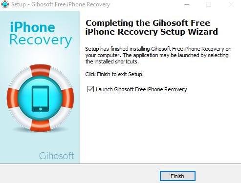 Восстановление данных с Вашего смартфона - iPhone Gihosoft Data Recovery - установка скриншот 4