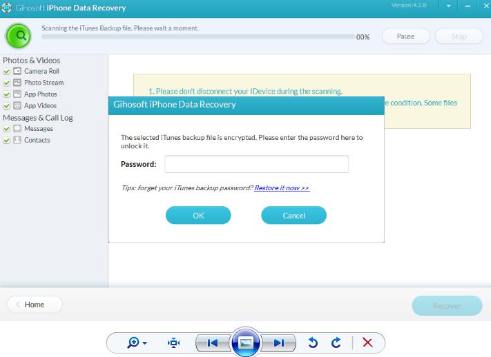 Восстановление данных с Вашего смартфона - iPhone Gihosoft Data Recovery - использование - скриншот 15