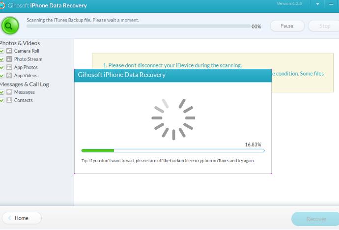 Восстановление данных с Вашего смартфона - iPhone Gihosoft Data Recovery - использование - скриншот 16