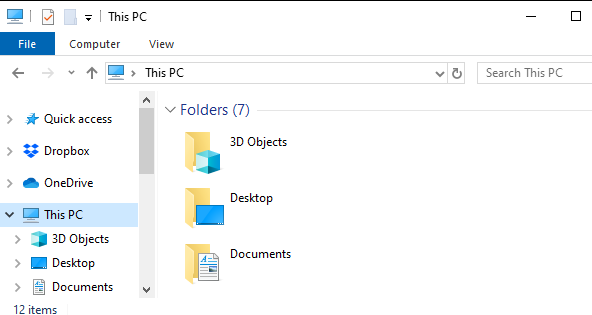 Папка 3D-объектов, которую никто не использует