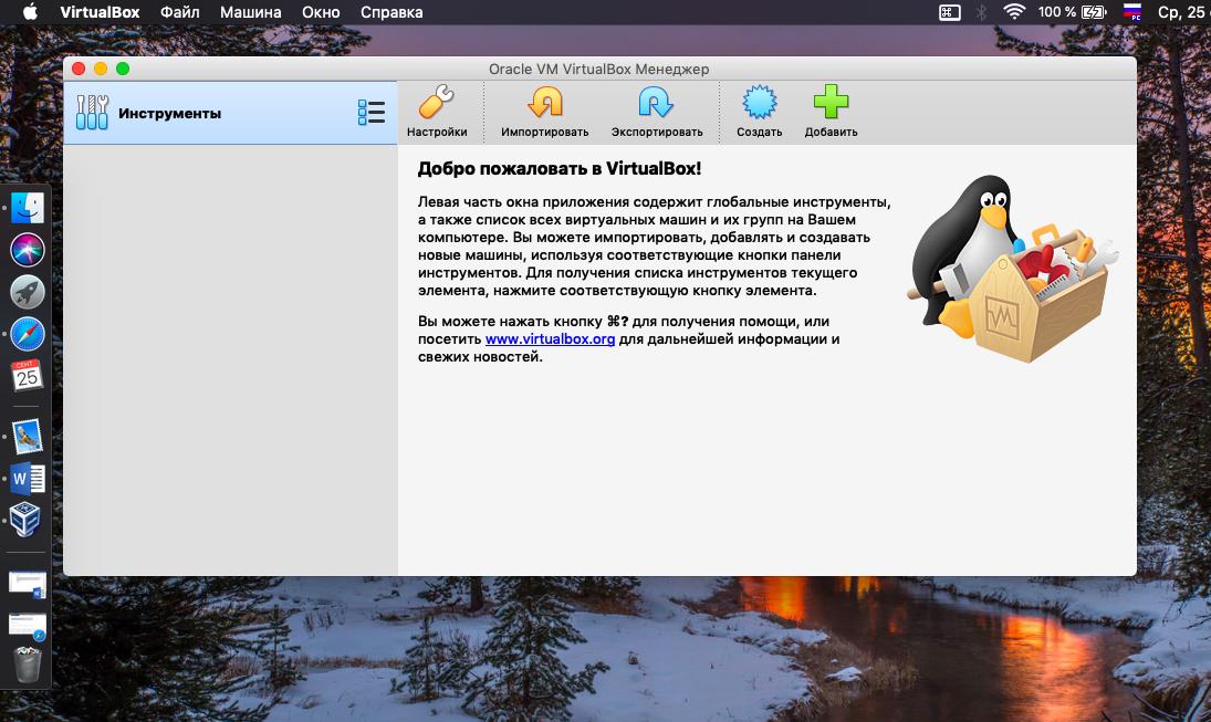 Создание виртуальной машины в VirtualBox - шаг 1